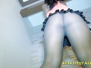 Clean The Floor While Fucking Asian From Behind