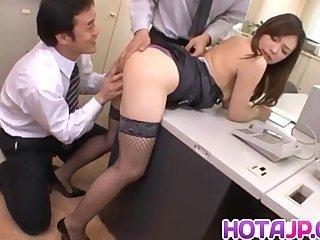 Aiko Hirose gets cum in nooky from sucked joy