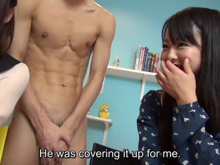 CFNM with real Asian amateurs and a JAV starlet Subtitles