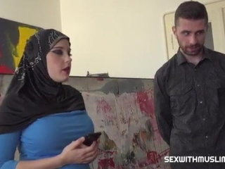 Arab hijab muslim big bra-stuffers nubile get fucked by big dick