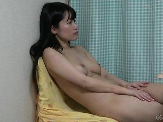 Asian nymphs spycam under the desk naked