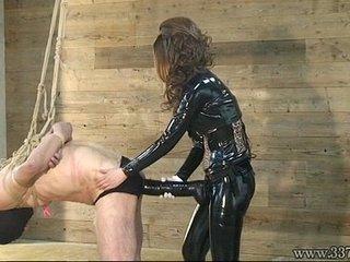 Female dom Kira Big Strap-on in slave's rump