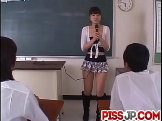 Misato Kuninaka in real Japanese college three way