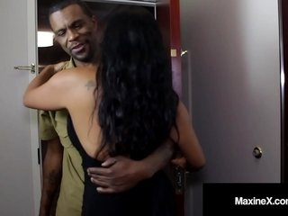 Bore Fucked Asian Milf Maxine-X Is Hindquarters Banged Unconnected with Dismal Cock!